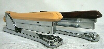 Lot Of 2 Vintage Ace Fastener Co Ace Liner Stapler 502 Chicago Il Working