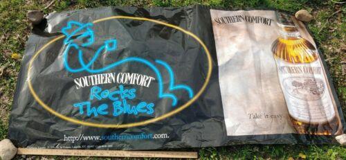 HUGE Southern Comfort BLUES MUSIC Vinyl Banner Sign Liquor Store Bar Display VTG
