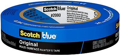 Scotch Blue Painters Tape Medium Adhesive Uv Sunlight Resistant 94-in By 60-yd