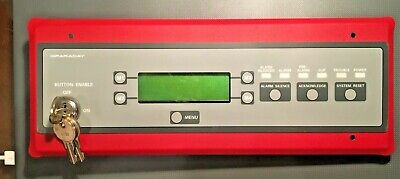 Faraday Rdc-2 Fire Alarm Lcd Anninciator Panel. Used Looks And Works Great
