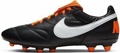 Nike Premier II FG Soccer Cleat Boots Black Orange 917803-018 Leather Men's 9.5