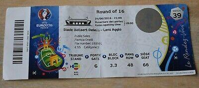 Euro 2016 - ticket match 39 - 16e de finale - Portugal-Croatie - 25-6-2016  Lens