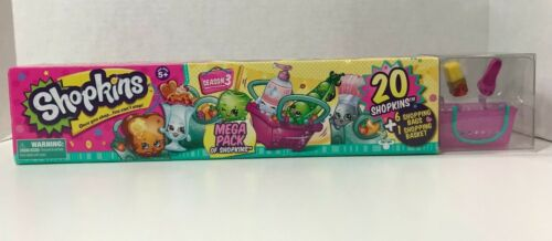 Shopkins Season 3 Mega Pack 20 Shopkins+ 6 shopping bags & 1 shopping basket New
