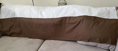 Threshold Target Chocolate Brown KING Bed Skirt  Bedskirt Flat Boxy Dust ruffle