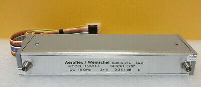 Aeroflex Weinschel 150-31-1 Dc To 18 Ghz 0 To 31db Programable Step Attenuator