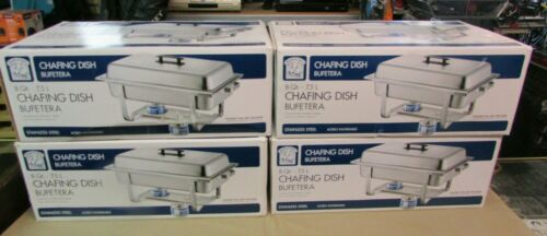 4 Bakers & Chefs Chafing Dish Bufetera 8 Quart (7.5L) Stainless Steel