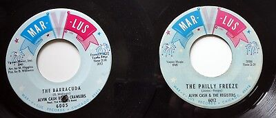 ALVIN CASH & REGISTERS lot of 2x45rpm singles MARVLUS r&b stroll   Ct695