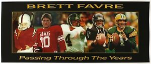 1990's Brett Favre Green Bay Packers Passing Through The Years Poster 15