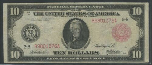 Fr893b $10 1914 Frn Red Seal -- New York -- Hw5609