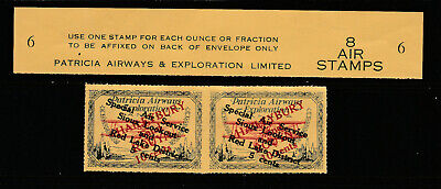 Canada Uni-Trade# CL28 Patricia Airways Pair & Selvege