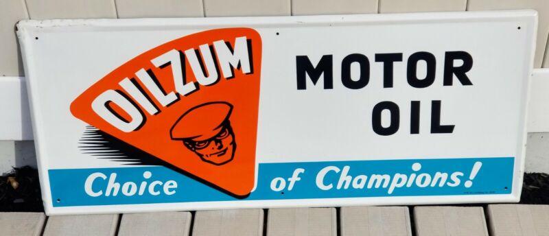 Oilzum Motor Oil Sign Original 1984