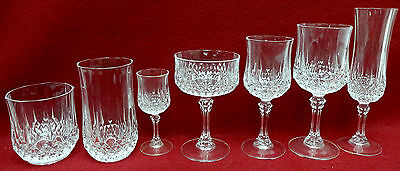 CRISTAL D'ARQUES Durand crystal LONGCHAMP 84-piece SET for 12 -7 different stems
