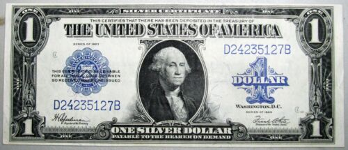 1923 $1 Silver Certificate Large Size Note Certificate STUNNING Condition