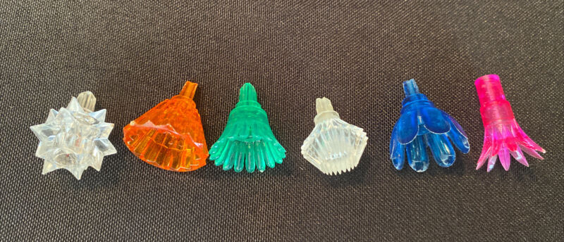 Lot 350 Vintage Christmas Tree String Light Bulb Covers Reflectors Mixed Types