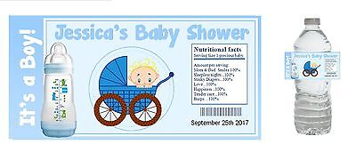 10 Baby Boy Shower Party Favors ~ Water Bottle labels Buy 3 get 1 free - Buy Baby Shower Favors