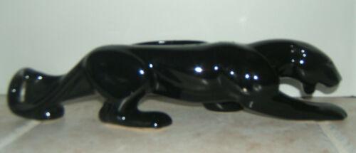 """VINTAGE MID-CENTURY MODERN BLACK PANTHER PLANTER LOW SLEEK 15"""" LONG"""