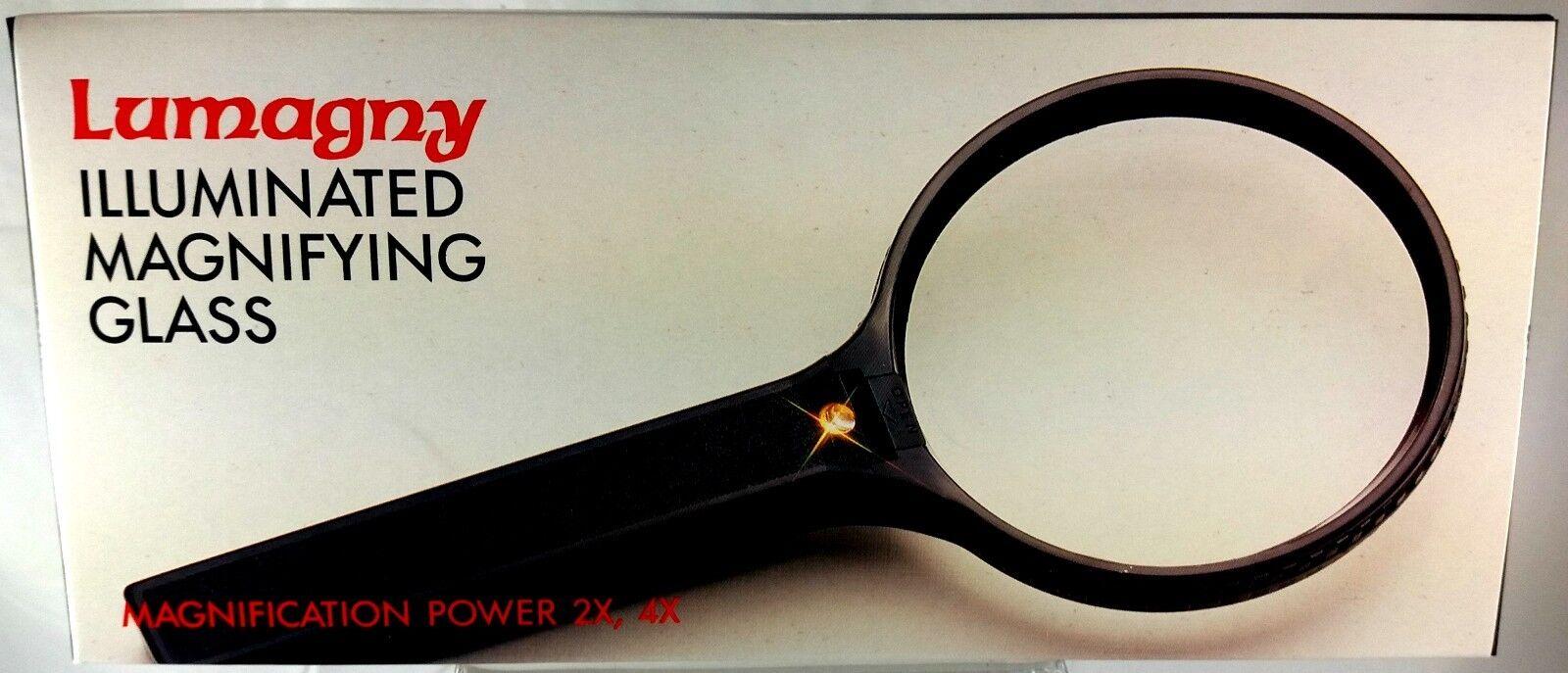 Lumagny GROOT Rond Vergrootglas met licht, vergroting 2x en 4x (VG20)