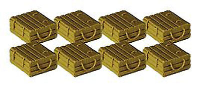 LOBSTER BOXES (8) S Model Railroad Ship Boat Unpainted Resin Detail Part FR1264