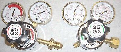 Harris Model 25gx Oxygen Acetylene Regulator Set Heavy Duty Usa Made