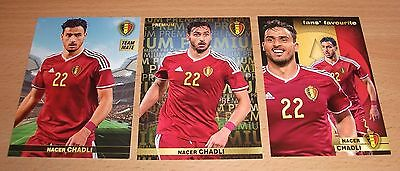 PANINI CARREFOUR LOT 26 49 133/180 - BELGIAN RED DEVILS TOUS ENSEMBLE - CHADLI