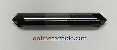 38 4 Flute 90 Degree Carbide Chamfer Mill - Double End - Tialn Coated