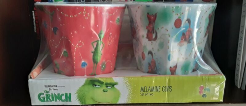 Grinch 4pc Holiday Cup Set  2 sets of 2