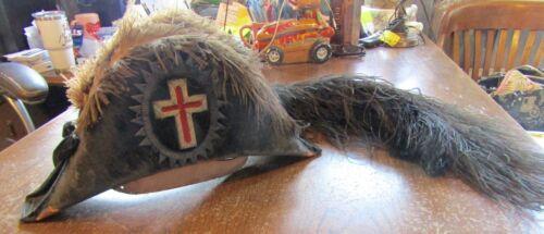 Vintage Knights Templar Masonic  Hat Fraternal Organization- 7 1/4