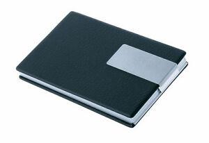 Edles Visitenkartenetui in Aluminium/Lederoptik -NEU-