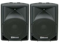 QTX 15A Active PA Speakers (Pair) with Stands