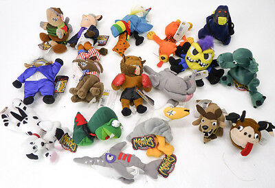 Lot of 17 MEANIES Bean Bag Plush Crude Funny Spoof Toys NWT Series 1 Infamous