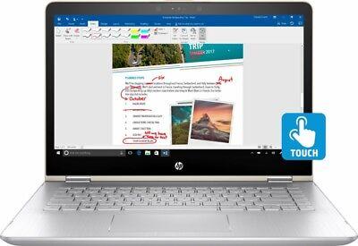 HP Pavilion x360 2 in 1 FHD Touchscreen Laptop Intel i5-7200U 8GB 128GB SSD Gold