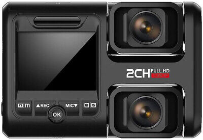 Dual Dash Camera Front and Rear Full HD - Wi-Fi & GPS. Uber, Bus Truck Security