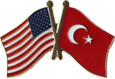 Wholesale Pack of 50 USA American Turkey Friendship Flag Hat Cap lapel Pin