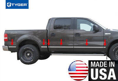 """TYGER For 04-08 F150 Super Cab 6.5/' Bed W//O Flare Body Molding Trim 1.5/"""" 10PC"""