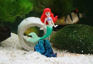 Mermaid fish tank ornament ebay for Little mermaid fish tank decor