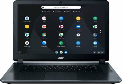 New Acer CB3-532-C8DF 15.6'' HD Chromebook Intel Celeron N3060 4GB 16GB eMMC