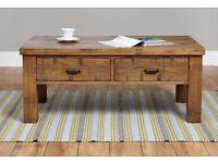 Shipton Rustic Four Drawer Coffee Table