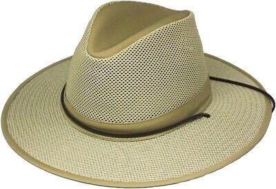 Henschel Khaki X-Large Safari Breezer Crushable 4310 Cotton w Mesh Crown UPF 50