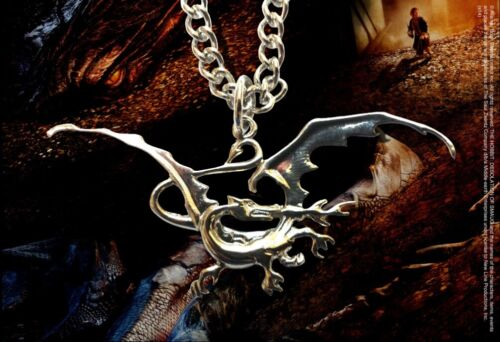 "Hobbit Smaug The Dragon Pendant (Zinc 18"" chain Desolation of Smaug by Noble NEW"