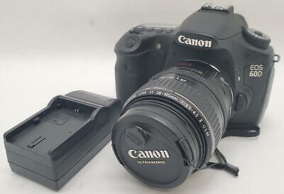 Canon EOS 60D 18.0MP Digital SLR Camera - Black w/ EF 28-105MM 1:3.5-4.5 Lens