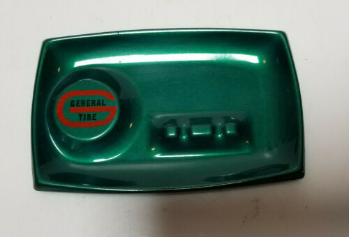 Vintage Ash Tray General Tire Metal painted tray