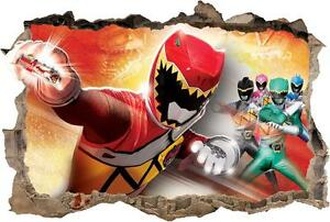 power rangers dino charge smashed wall decal removable power rangers dino charge red decal removable graphic wall