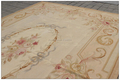 Aubusson Area - TOP SELLER! Aubusson Area Rug ANTIQUE FRENCH PASTEL Wool FREE SHIP! Many sizes!!