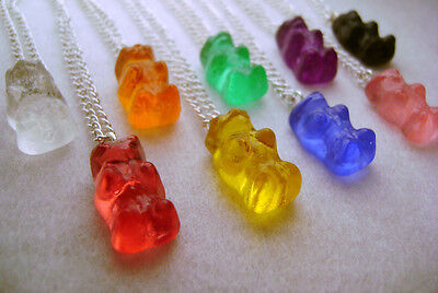1x Gummy Bear Necklace Pendant Cute Kawaii Kitsch Sweet Candy
