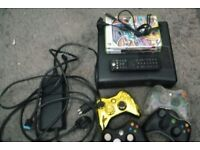 XBox 360 slim 250GB + controllers and games