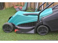 Electric Lawn Mower, Electric Strimmer, Lawn Rake and free shears