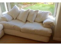 PAIR OF CREAM SOFAS - 2 AND 3 SEATER