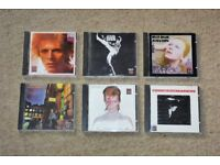 DAVID BOWIE - 6 RCA German CDs (rare) Space Oddity, Man Who Sold World, Hunky Dory, Ziggy, Aladdin.