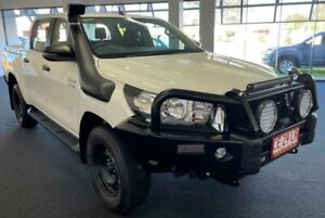 2020 Toyota Hilux GUN126R SR Double Cab White 6 Speed Sports Automatic Utility Winnellie Darwin City Preview