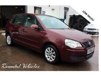 Volkswagen Polo 1.4 SE Auto, LOW MILES 62000 miles, Full Service History, five door, Met Red, LOVELY